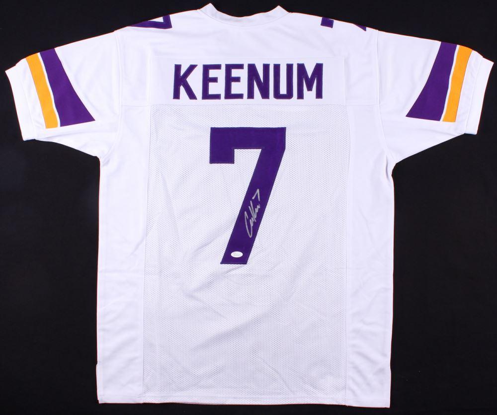pretty nice 84e28 09799 Case Keenum Signed Vikings Jersey (JSA COA)