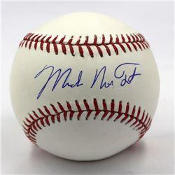Mike Nelson Trout Signed OML Baseball (MLB Hologram)