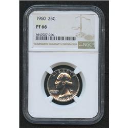 1960 Washington Silver Quarter Dollar (NGC PF 66)