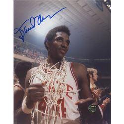 David Thompson Signed North Carolina State Wolfpack 8x10 Photo (Legends COA)