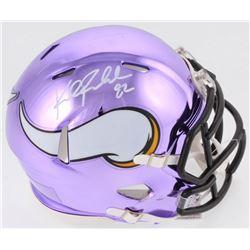 Kyle Rudolph Signed Vikings Chrome Speed Mini Helmet (TSE COA)
