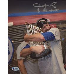 "Jason Hammel Signed Chicago Cubs 8x10 Photo Inscribed ""16 WS Champs"" (Beckett COA)"