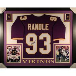 John Randle Signed Minnesota Vikings 35x43 Custom Framed Jersey (JSA COA)