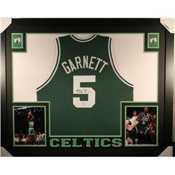 Keivn Garnett Signed Boston Celtics 35x43 Custom Framed Jersey (PSA COA)