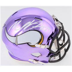 Mike Hughes Signed Vikings Chrome Speed Mini Helmet (TSE COA)