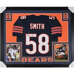Roquan Smith Signed Chicago Bears 35x43 Custom Framed Jersey (Beckett COA)