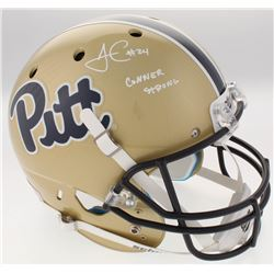 "James Conner Signed Pittsburgh Panthers Full-Size Helmet Inscribed ""Conner Strong"" (TSE COA)"