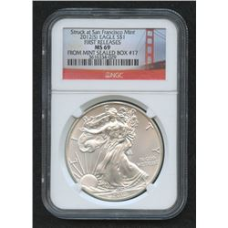 2012-S American Eagle Silver Dollar - First Releases (NGC MS 69)