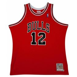 Michael Jordan Signed Mitchell  Ness #12 Authentic Chicago Bulls Jersey (UDA COA)