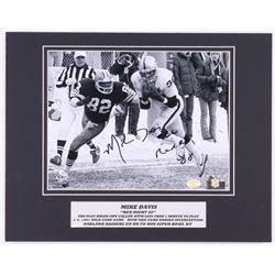"Mike Davis Signed Los Angeles Raiders 11x14 Custom Matted Photo Display Inscribed ""Red Right 88"" (SO"