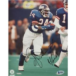 "Ottis Anderson Signed New York Giants 8x10 Photo Inscribed ""NY Giants"" (Beckett Hologram)"