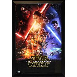 """Harrison Ford Signed """"Star Wars: The Force Awakens"""" 28x40 Custom Framed Poster (Radtke COA)"""