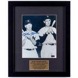 Mickey Mantle Signed New York Yankees 14x17 Custom Framed Photo Display (Steiner Hologram)