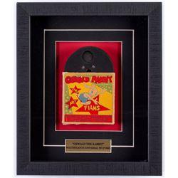 "Vintage Walter Lantz Universal Pictures ""Oswald The Rabbit"" Film 10.5x12.5x2 Custom Framed Film Reel"