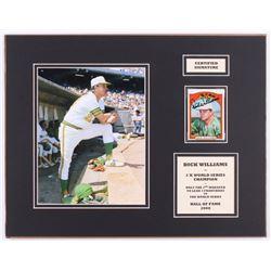 Dick Williams Signed Oakland Athletics 14x18 Custom Matted Baseball Card Display (SOP COA  JSA COA)
