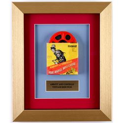 """Vintage Abbot  Costello """"Have Badge, Will Chase"""" 10x12 Custom Framed 8mm Film Reel Display"""