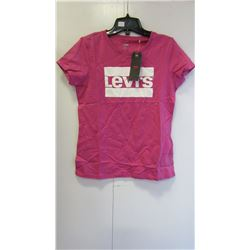 NEW LADIES LEVIS LOGO PINK T-SHIRT - CHOICE