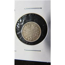 1911 KING GEORGE V SILVER FIVE CENT