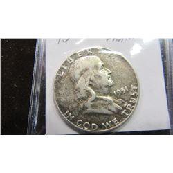 1951 USA FRANKLIN SILVER HALF DOLLAR