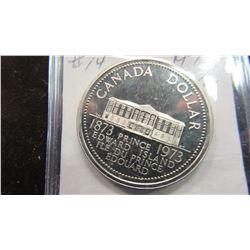 1973 CANADA PRINCE EDWARD ISLAND DOLLAR