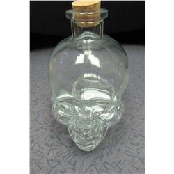 NEW GLASS SKULL DECANTER WITH CORK - CHOICE