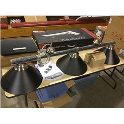 Black 3-Shade Billiard Light Assembly