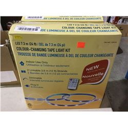 LED 24ft Colour-Changing Tape Light Kit