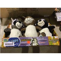 Woodland Critters Plush Chew Toy Set