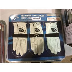 Callaway Medium-Large Left-Handed Golf Gloves 3-Pack