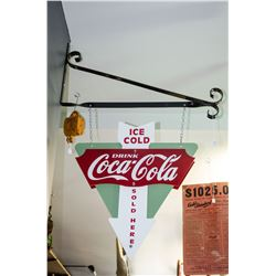 Vintage Hanging Coke Sign