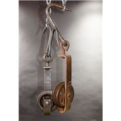 2 - Vintage Farm Pulleys