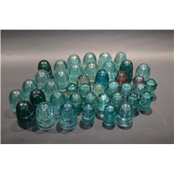 Lot of collectible Glass Insulators