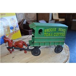 Collectible Metal Horse & Wagon