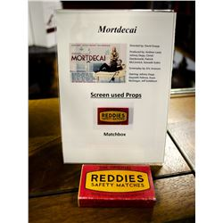"Movie Prop from the movie ""Mortdecai"""
