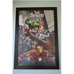 "Large Framed Marvel ""Avengers"" Print"