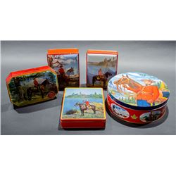 Lot of vintage RCMP Tins