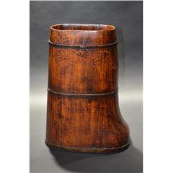 Wooden Boot Vase