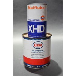 Esso & Gulf Oil Cans