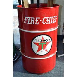 Texaco Fire-Chief Oil Drum