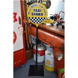 "Steel ""Taxi Stand"" Floor Sign"