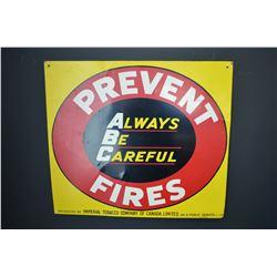 Prevent Fires Sign