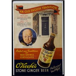 RARE - O'keefe's Stone Ginger Beer Advertisement