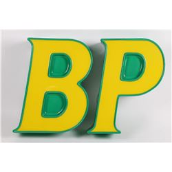Original British Petroleum (BP) Illuminated 3-D Station Sign