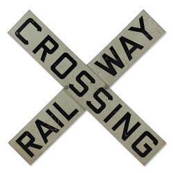 Original Railway Crossing Sign