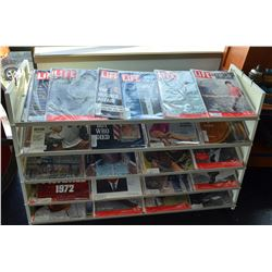 Rack full Life Magazines