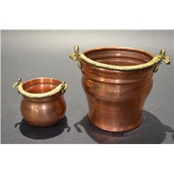Set of 2 Copper Pots