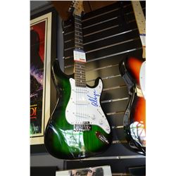 Authentic Alice Cooper Signed Full-Size Crescent Electric Guitar (PSA COA)