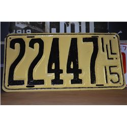 1915 Illinois License Plate