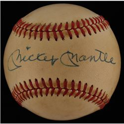 Mickey Mantle Autographed Baseball (JSA LOA)