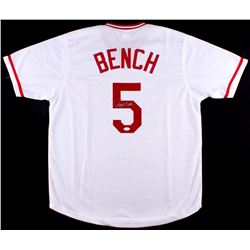 Johnny Bench Signed Reds Jersey (JSA COA)